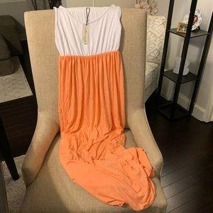 Empire waist maternity maxi dress